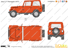 orange jeep cj the blueprints com vector drawing jeep cj 7 renegade