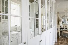 White Cabinet Doors Kitchen by Mirrored Kitchen Cabinet Doors Design Ideas