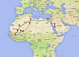 Map Of Mali Corner Mansa Musa U0027s Hajj Route Circa 1324