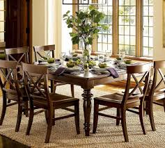 dining room nice dining table decor with flowers and placemats