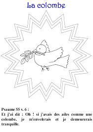 Coloriage  la colombe