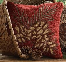 pine cone hooked pillow jpg