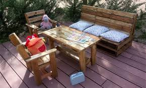 Kids Patio Chairs by Kids Outdoor Furniture Made With Used Pallets Pallet Ideas