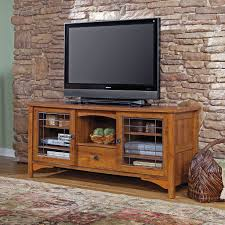 furniture brick wall design ideas with wooden sauder tv stand