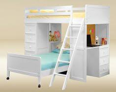 white loft bed with desk pin by annora on home interior pinterest white bunk beds living