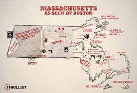 Massachusetts Map Cities And Towns by How Boston Sees The Rest Of Massachusetts Map Thrillist
