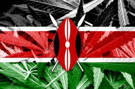 Flag Of Kenya Kenya Flag On Cannabis Background Drug Policy Legalization