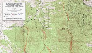 mt lemmon hiking trails map mt lemmon trail maplets