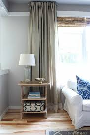 Long Drapery Panels Curtains Long Curtains Ikea Decorating Easy Diy No Sew Embellished