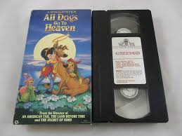 a charlie brown thanksgiving vhs vintage vhs video tape 1990 all dogs go to heaven animated cartoon