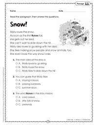 3rd grade reading comprehension worksheets multiple choi koogra