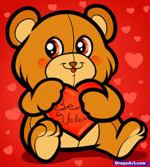 valentines bears learn how to draw be my be my