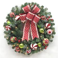 30 in pre lit b o led alexander pine artificial christmas wreath