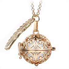 metal pendant necklace images Pendant necklace pregnancy balls bola with cage angel ball baby jpg