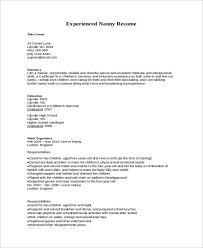 How To Write Nanny On A Resume Nanny Resume 8 Free Sample Example Format Free U0026 Premium