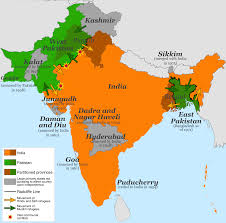 Calcutta India Map by Radcliffe Line Wikipedia