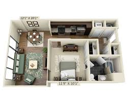 floor apartment plans and pricing for capitol view on 14th one bedroom a1d