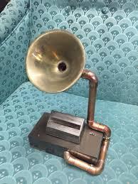 passive iphone 6 speaker made from scrap butcher block copper