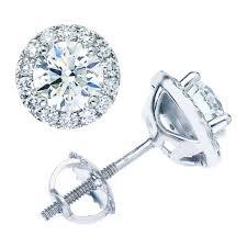 diamonds earrings brilliant 1 95 ctw vs2 clarity i color diamond 14kt white