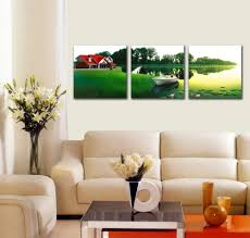 easy nature handmade red house village scenery painting for home easy nature handmade red house village scenery painting for home decoration