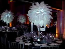 Rent Chandeliers Rent Chandeliers White Ostrich Feather Centerpieces By