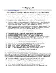 Sample Resume Of Sales Associate by Randal Davis Resume New Home Sales