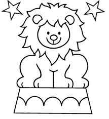pre k coloring pages lion coloring pages for kids free printable