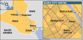 basra map news middle east scores killed in iraqi bombings