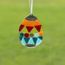 glass easter egg ornaments fused glass ornament suncatcher easter egg colibri glass