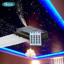 maykit multifunction fiber optic meteor star light kit projector