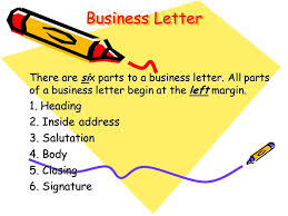 Casual Business Letter Closings Business Letter 1 Heading 2 Inside Address 3 Salutation 4 Body