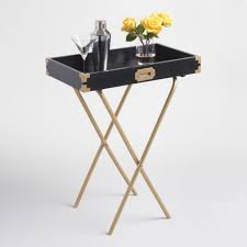 butler table with tray black and gold butler tray world market