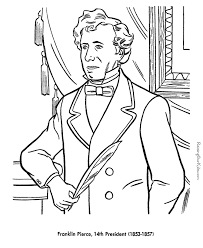 free printable coloring pages of us presidents free printable president franklin pierce coloring pages presidents