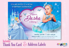 cinderella invitation template cinderella 1st birthday invitation with your baby princess as