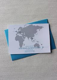 Cruise Wedding Invitations World Map Save The Date For A Destination Wedding Be My Guest