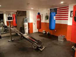 home fight club this new home gym man cave includes punching bags