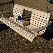 porch swing hanging kit porch swing bench with cup holder porch
