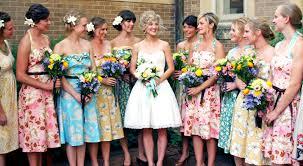 print bridesmaid dresses adrian and wedding trends printed bridesmaid dresses