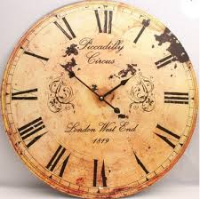 wall clock vintage retro antique shabby chic distressed 97 00