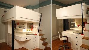 Plans For Loft Beds With Stairs by Mixing Work With Pleasure Loft Beds With Desks Underneath