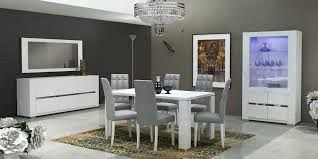 esf elegance white dining table