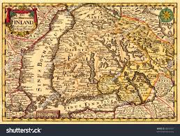Ancient Map Ancient Map Finland 17 Centuries Stock Photo 38519707 Shutterstock