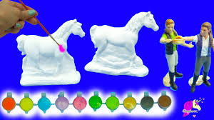painting plaster rainbow fantasy appaloosa horses for 2 schleich
