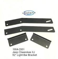 american made led light bar jeep cherokee xj 84 01 52 led light bar mounting bracket kit usa