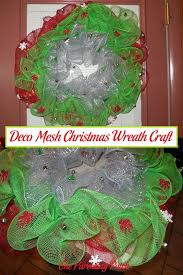 mesh christmas wreaths deco mesh christmas wreath craft parenting patch