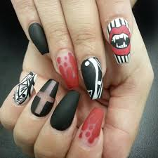 cute halloween nails halloween halloween nails vampire nails bloody nail art vampire