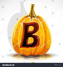 happy halloween font cut out pumpkin stock vector 111695879