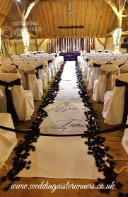 black aisle runner story timeline wedding aisle runner personalised with photos