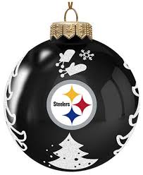 memory company pittsburgh steelers glass tree ornament