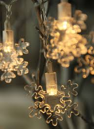 snowflake string of lights battery operated led snowflake string lights 6 5 feet merry